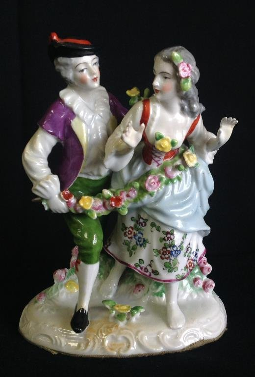20th C Porcelain Figural Grouping