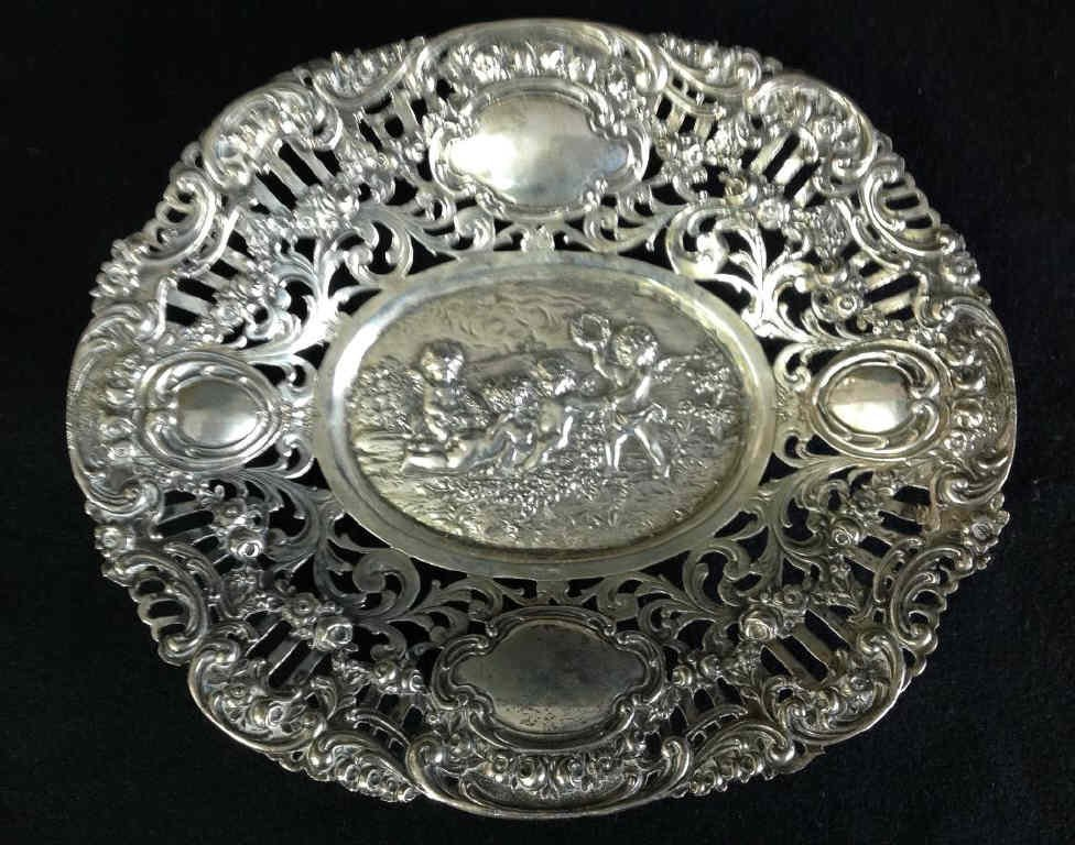 Oval Continental Silver Dish