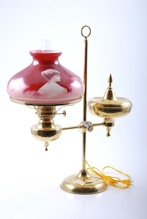 Bradley & Hubbard Crushed Acorn Student Lamp