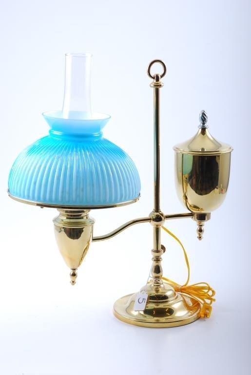 Bradley & Hubbard Transitional Brass Table Lamp