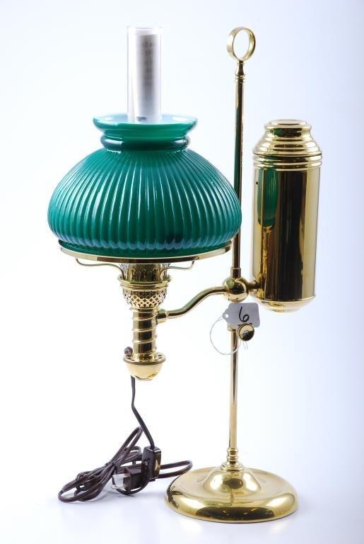 Manhattan Brass Student Lamp Pat. May 20, 1879