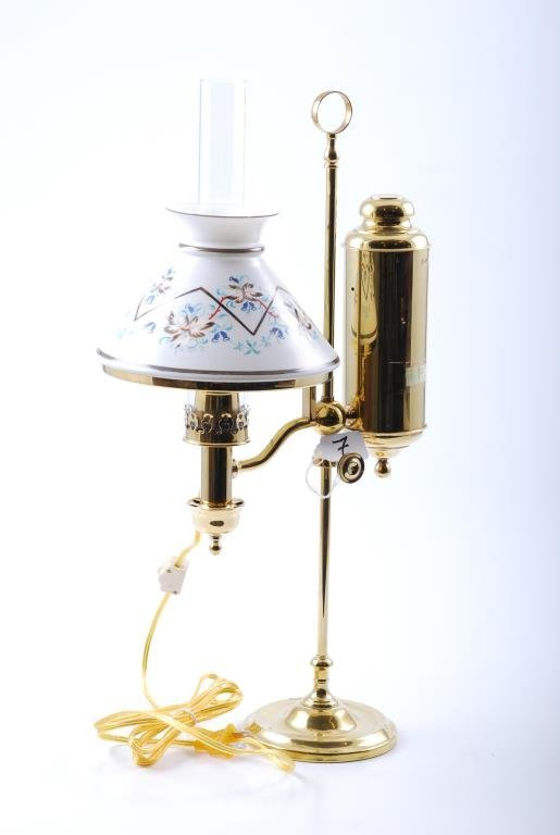 German Student Lamp Co. Brass Student Lamp