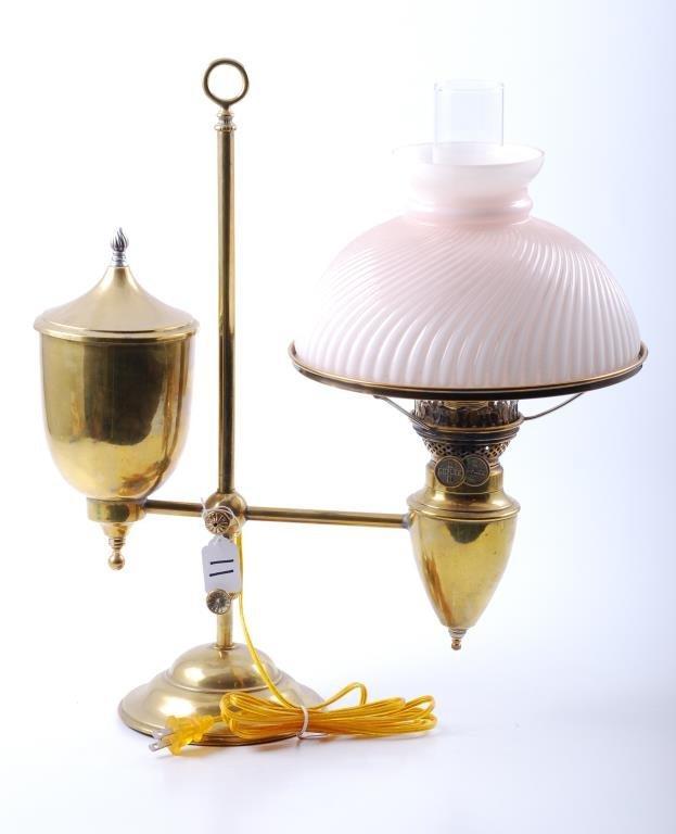 Bradley & Hubbard Brass Student Lamp c. 1890