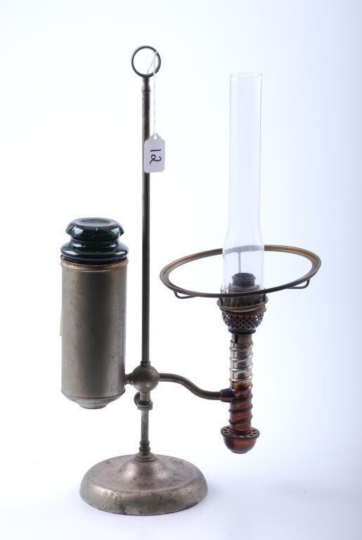 Manhattan Brass Co. Nickel Plated Student Lamp