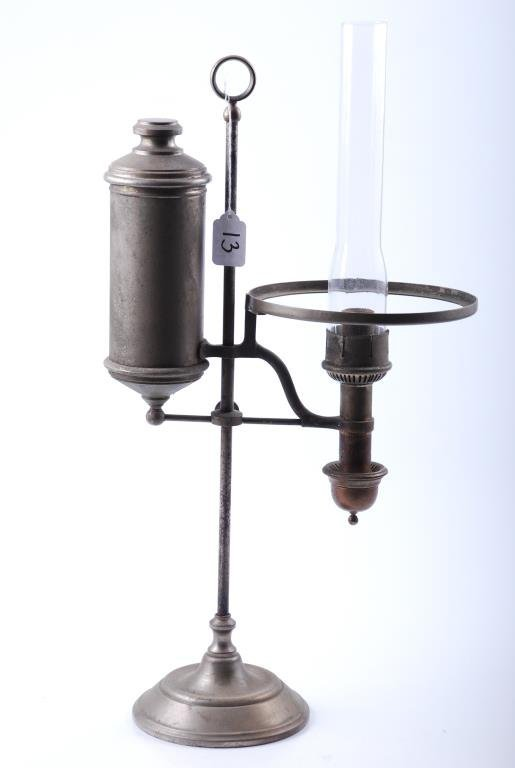 Nickel Plated Dog-Leg Style Lamp and Post