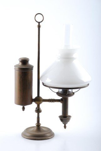 Unsigned Brass Student Lamp Att. to Cleveland