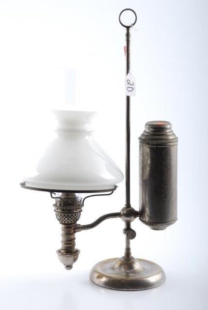 Manhattan Brass Co. Nickel Plated Students Lamp