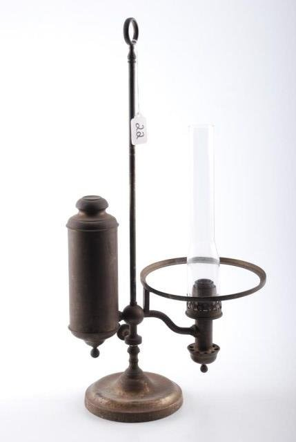 Early Kleemann NY Student Lamp Re-Pat 1873