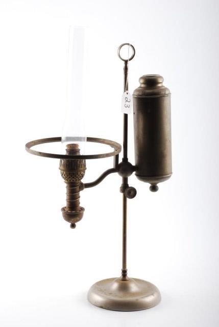 Manhattan Brass Co. Student Lamp in Nickel Plate