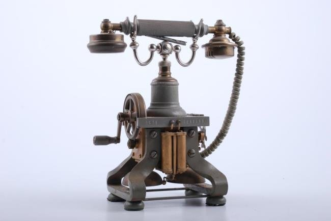 Eiffel Tower Skeleton Phone Circa 1892-1897