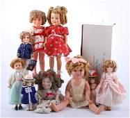 Ten Shirley Temple Dolls