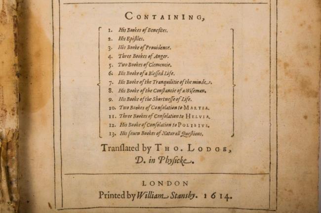 Works of Lucius Annaeus Seneca London 1614 - 8