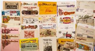 LOT OF CIRCUS STATIONARIES & PROMOTIONAL MATERIALS