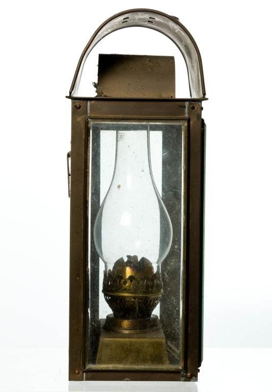 ENGLISH BRASS KEROSENE LANTERN BY DUPLEX