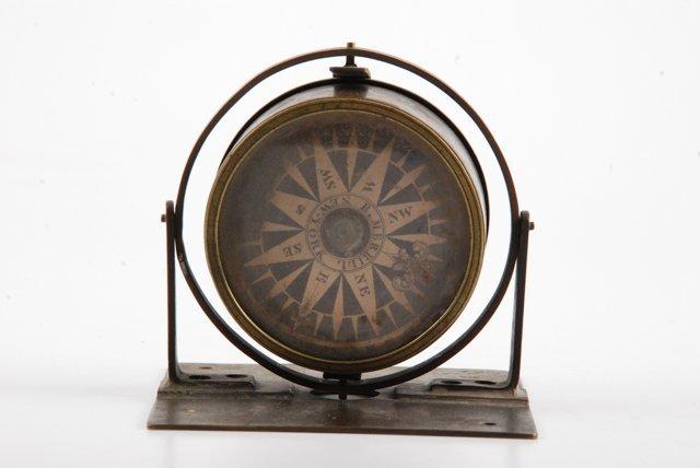 """Gimbaled """"Long Star"""" Dry Compass R. Merrill, NY"""