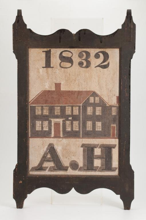1832 Double-Sided Wooden Tavern Sign