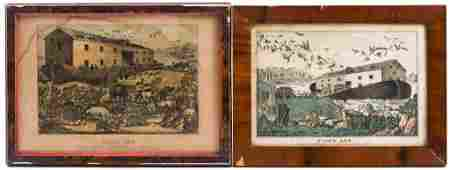 """Currier & Ives and Baille """"Noah's Ark"""" Lithographs"""