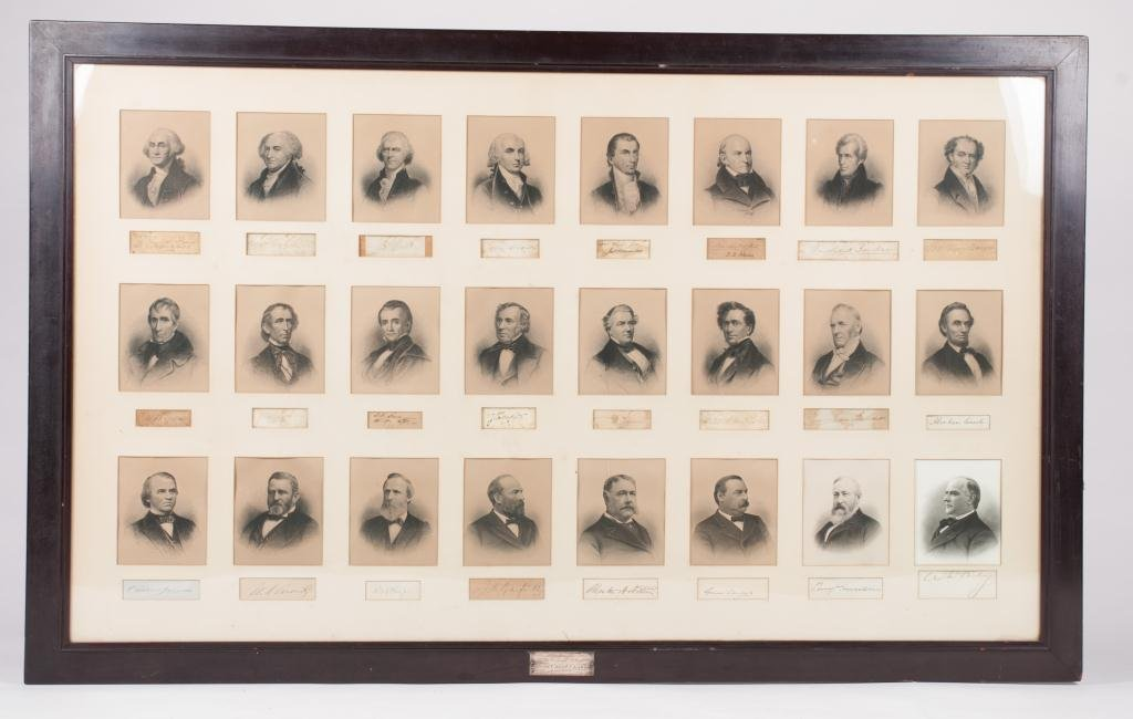 Signed Composite of the First (24) US Presidents
