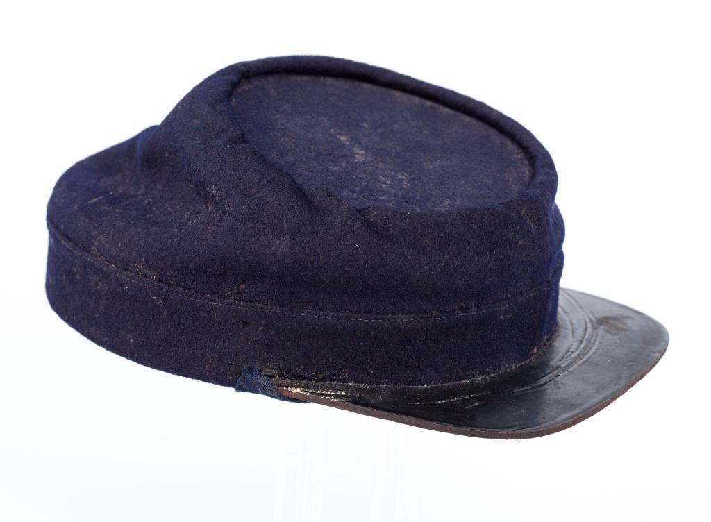 Civil War Indigo Blue Wool Union Kepi Hat