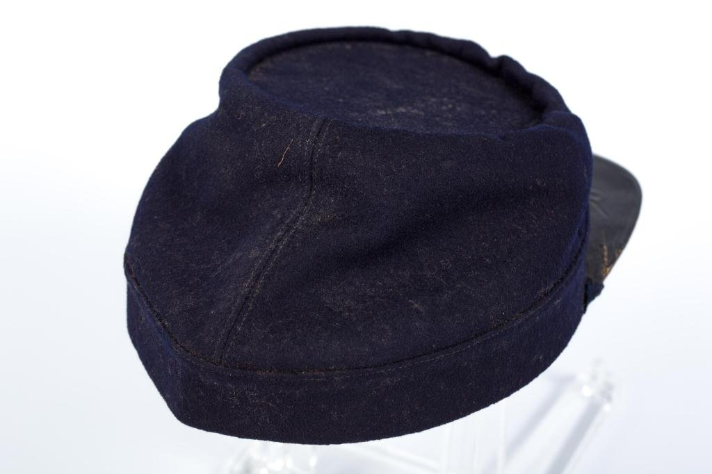 Civil War Indigo Blue Wool Union Kepi Hat - 5
