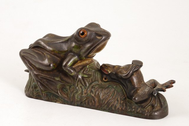 """""""The Two Frogs"""" Cast Iron Mechanical Bank"""