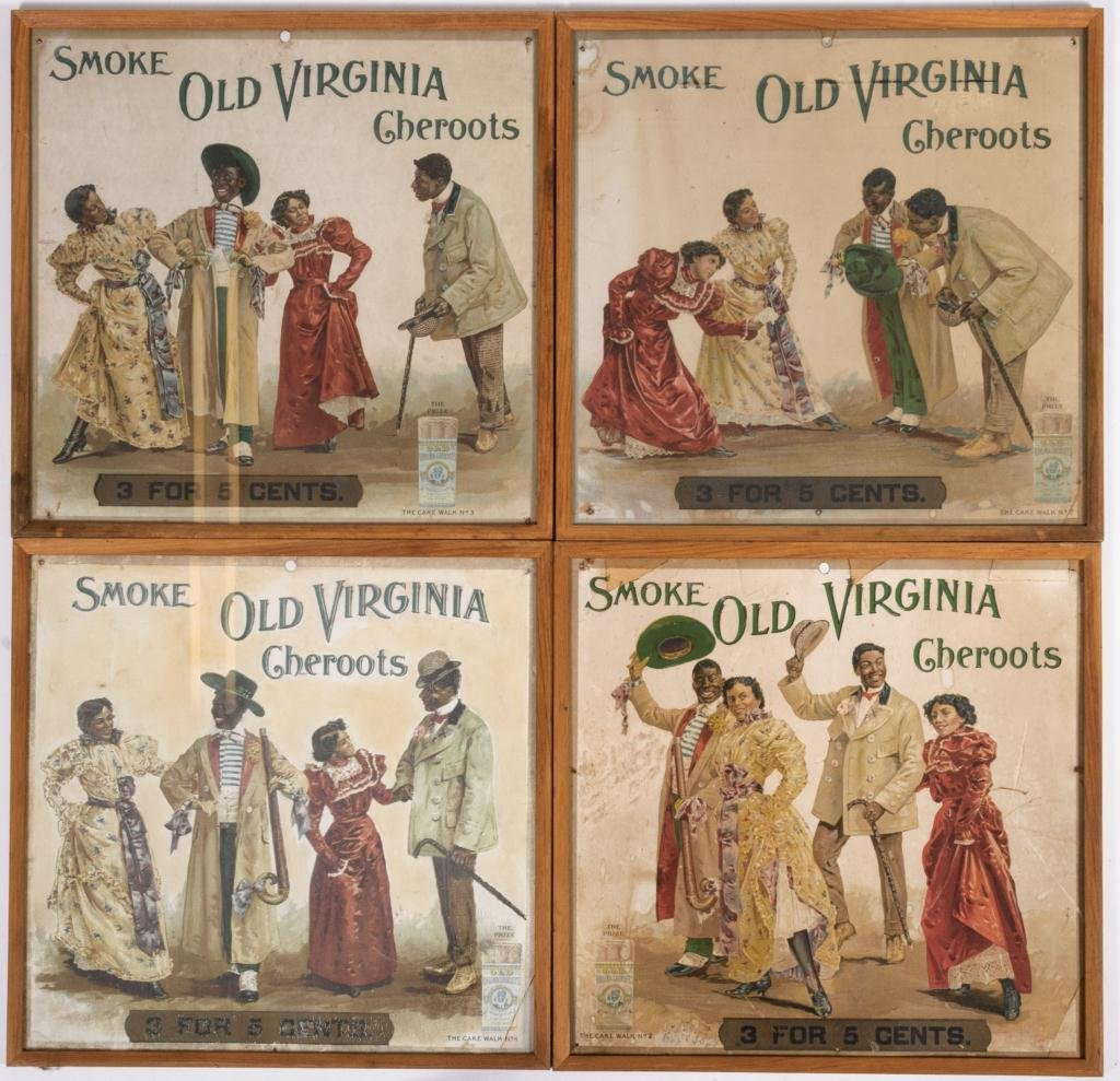 Black Americana Cake Walk Old Virginia Cheroots Ad