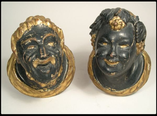 8: Pair of Continental painted and gilt Blackamoor smil