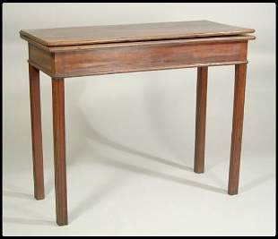 Chippendale mahogany card table, rectangular top ab