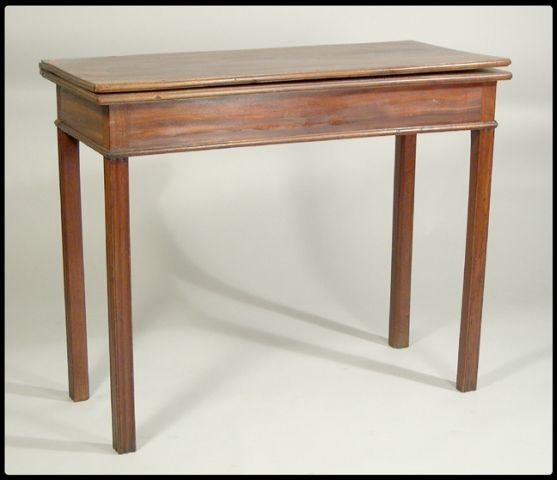 16: Chippendale mahogany card table, rectangular top ab