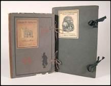 321: Charles Dickens print portfoilios