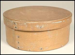 "A 19th century wood band box 6""D."