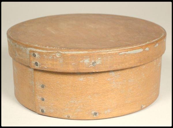 "655: A 19th century wood band box 6""D."