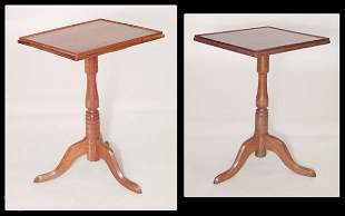 Two similar New England cherry tray top Queen Anne