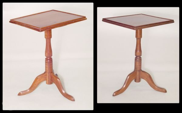 661: Two similar New England cherry tray top Queen Anne