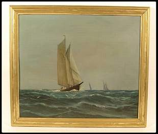 H. Brown, American, 19/20th century oil on board,
