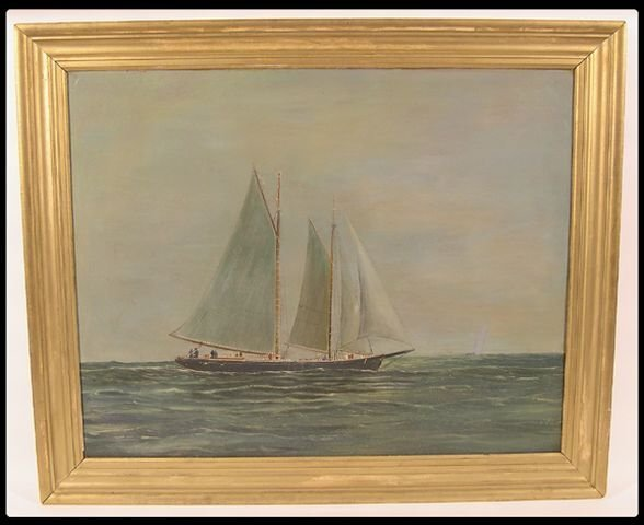 665: H. Brown American, 19/20th century oil on board se