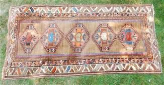 (19th c.) Oriental Camel Hair Tribal Hamadan Rug