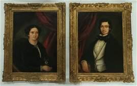 (19th c.) American School Ancestral Portraits