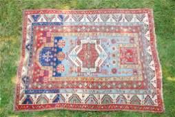 19th c Oriental Caucasian Carpet