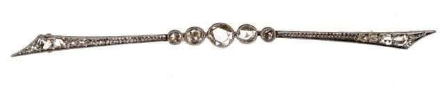 18k Edwardian Rose Diamond Pin