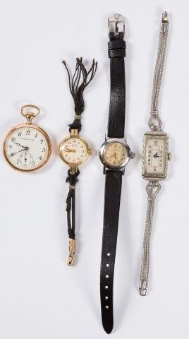 Ladies 14k Pocket Watch w/ Others