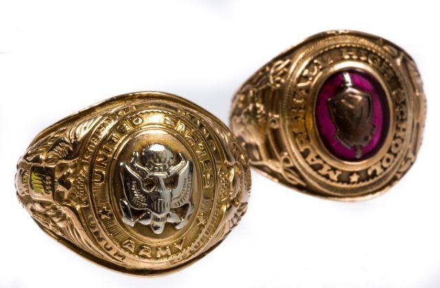 10k Army Ring w/ a Class Ring