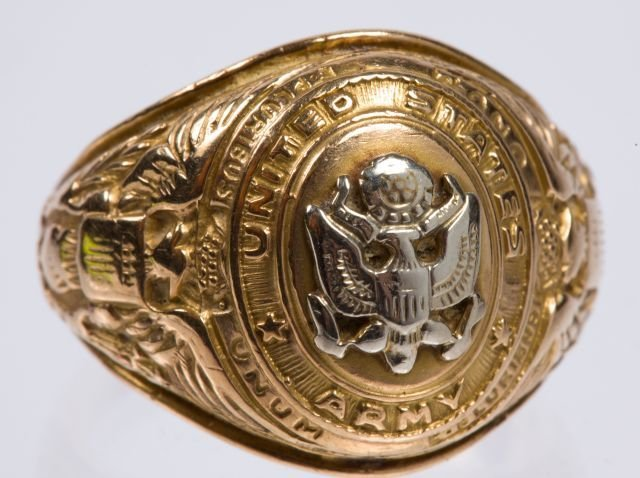 10k Army Ring w/ a Class Ring - 2