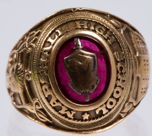 10k Army Ring w/ a Class Ring - 3