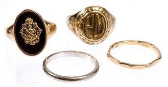 Group of 14k Gold Rings