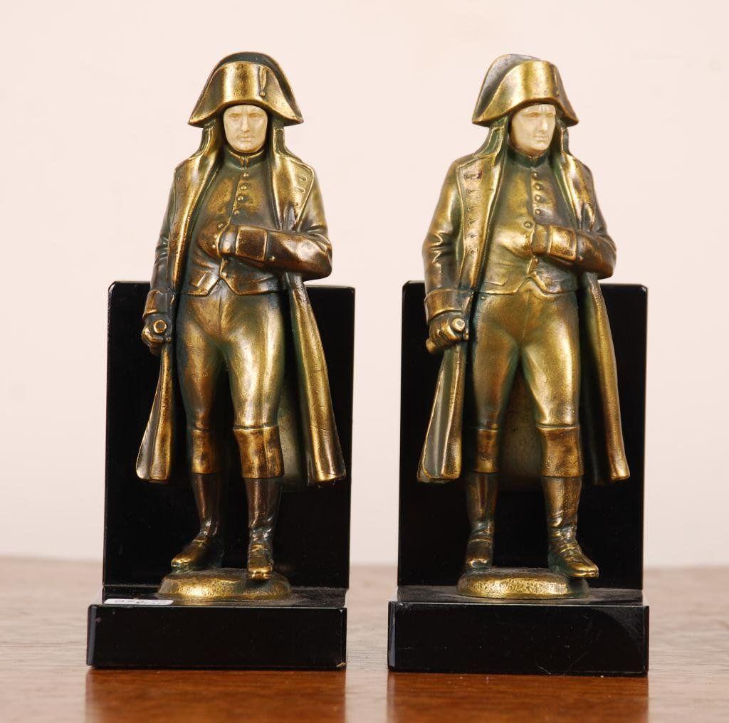 Pair of Bronze Napoleon Figural Bookends