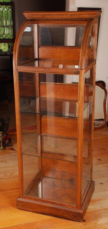 Rare Victorian Oak Sponge Store Display Cabinet