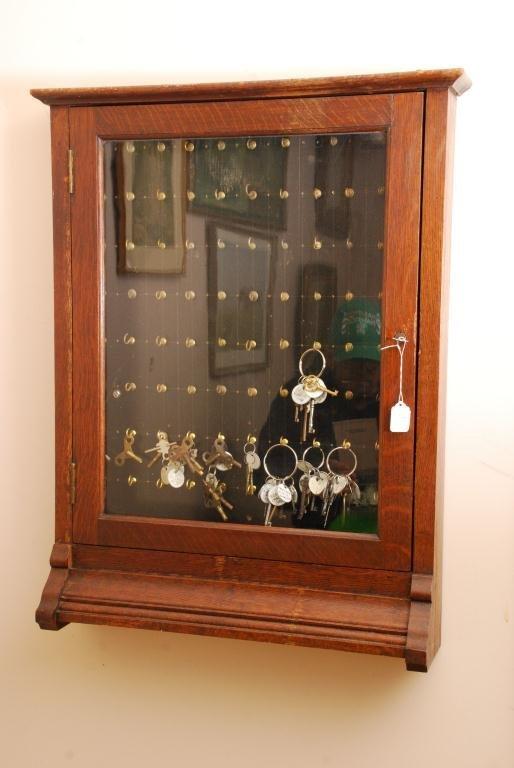 Oak Key Cabinet