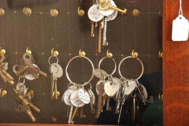 Oak Key Cabinet - 2
