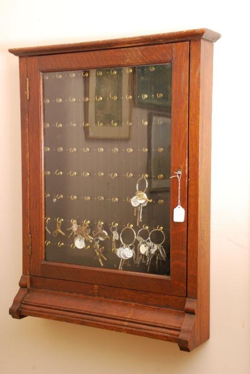 Oak Key Cabinet - 3